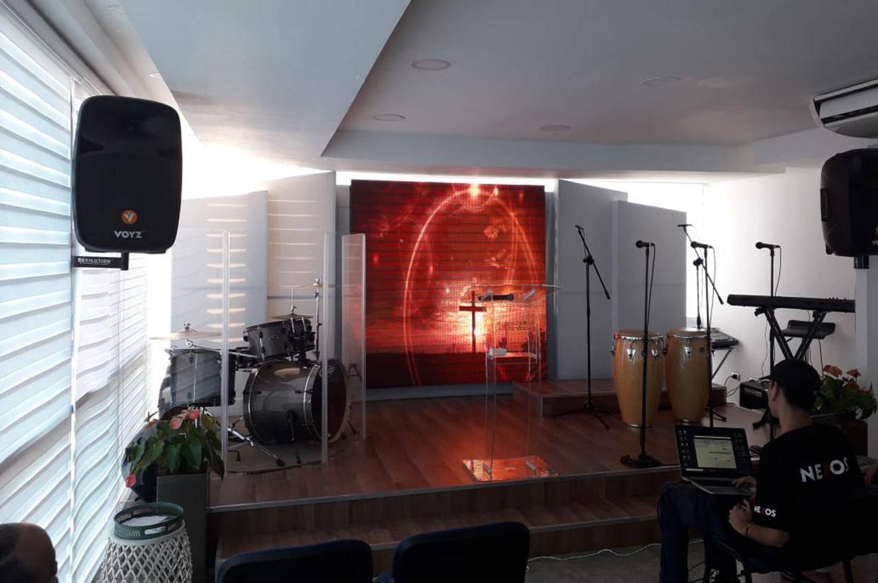 Santo Domingo, . Pantalla Indoor 2x2 P5