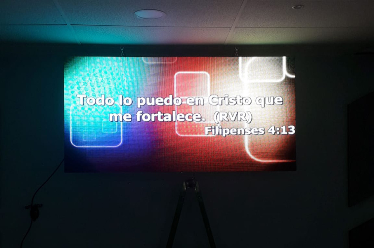 Madrid, . Pantalla Indoor 2x1 P5