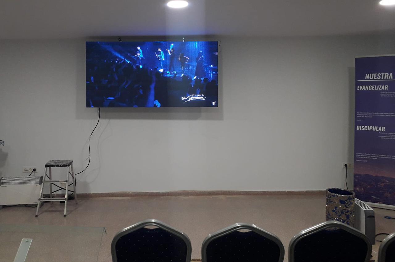Barcelona, . Pantalla Indoor 2x1 P5