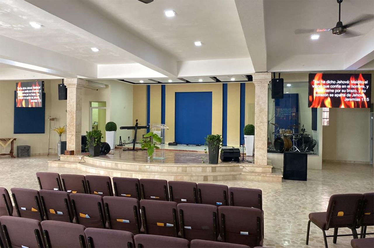 Higüey, . Pantalla Indoor 2x1 P5