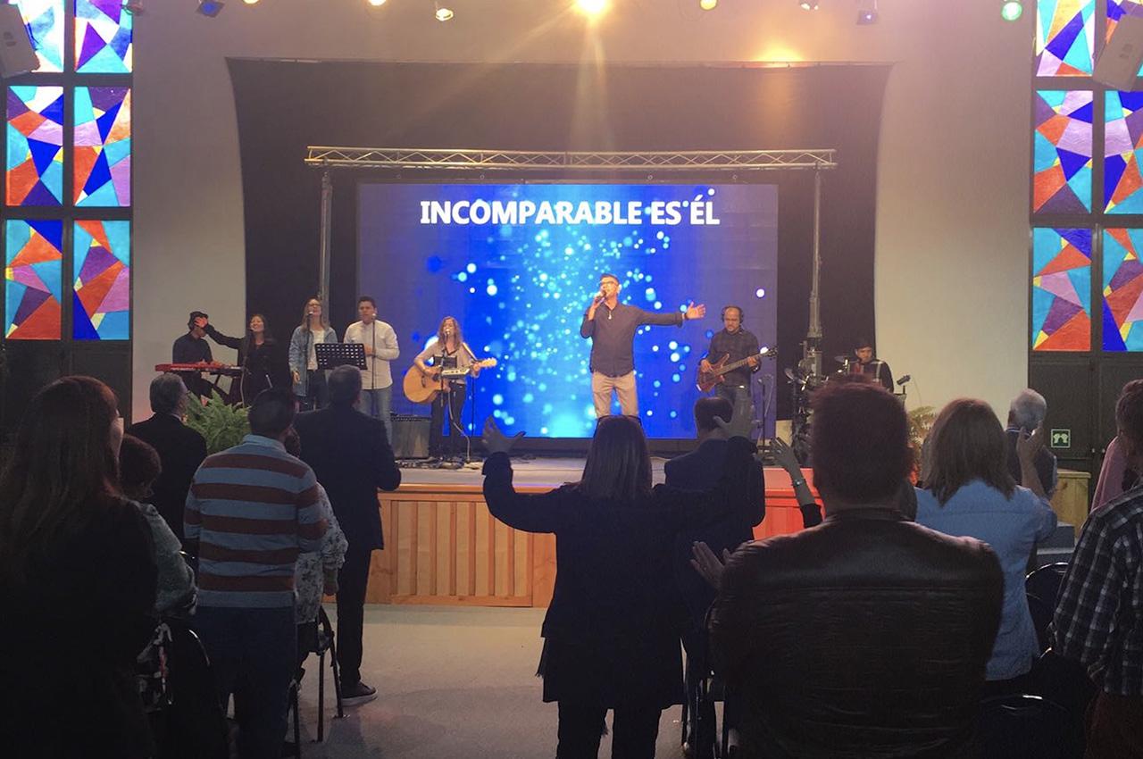 Madrid, . Pantalla Indoor 5x3 P5