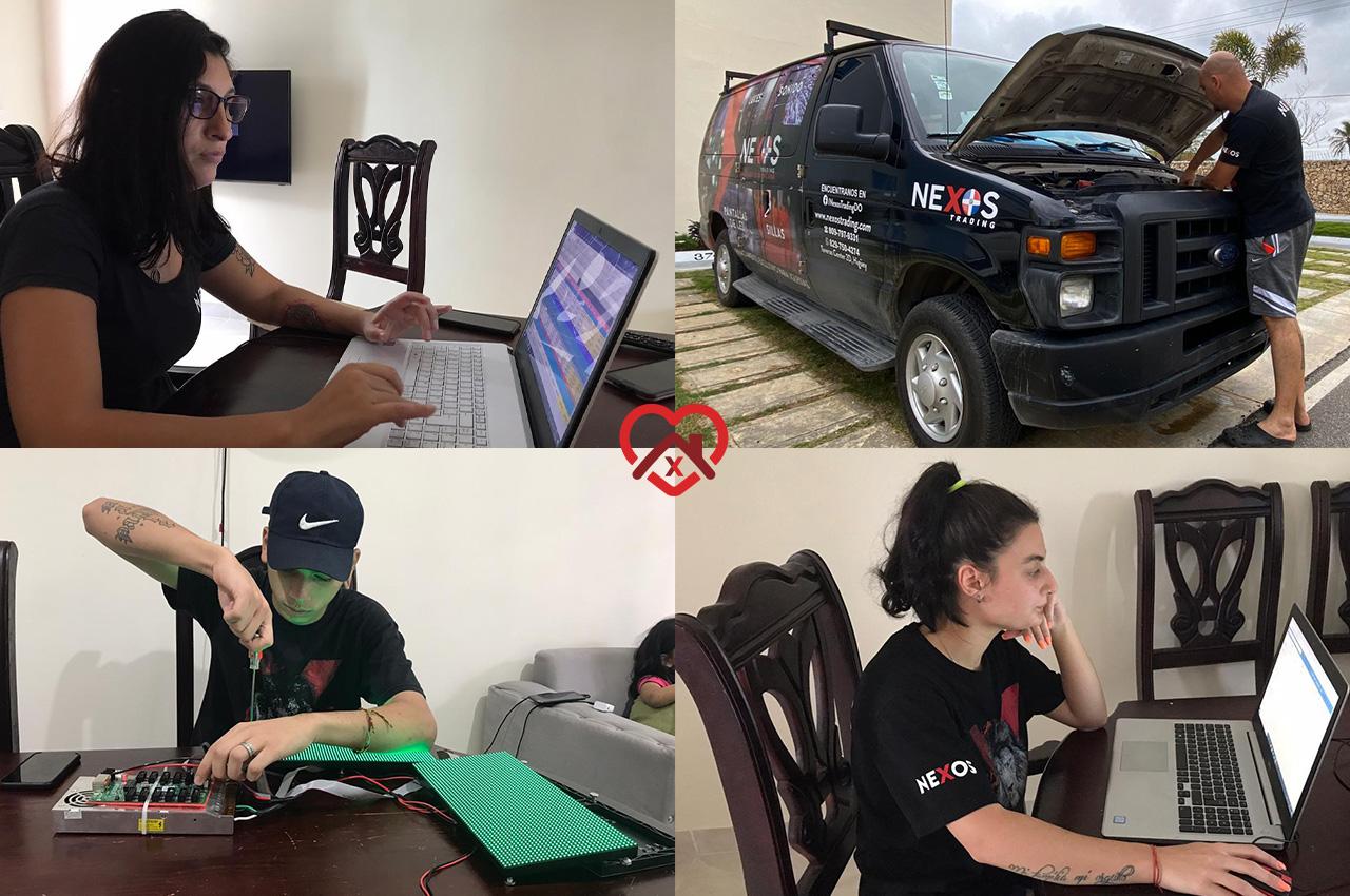 Nexos sigue trabajando en cuarentena en Dominicana.
