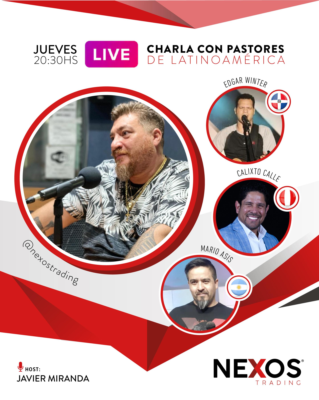 Nueva charla en vivo con pastores de Latinoamérica.