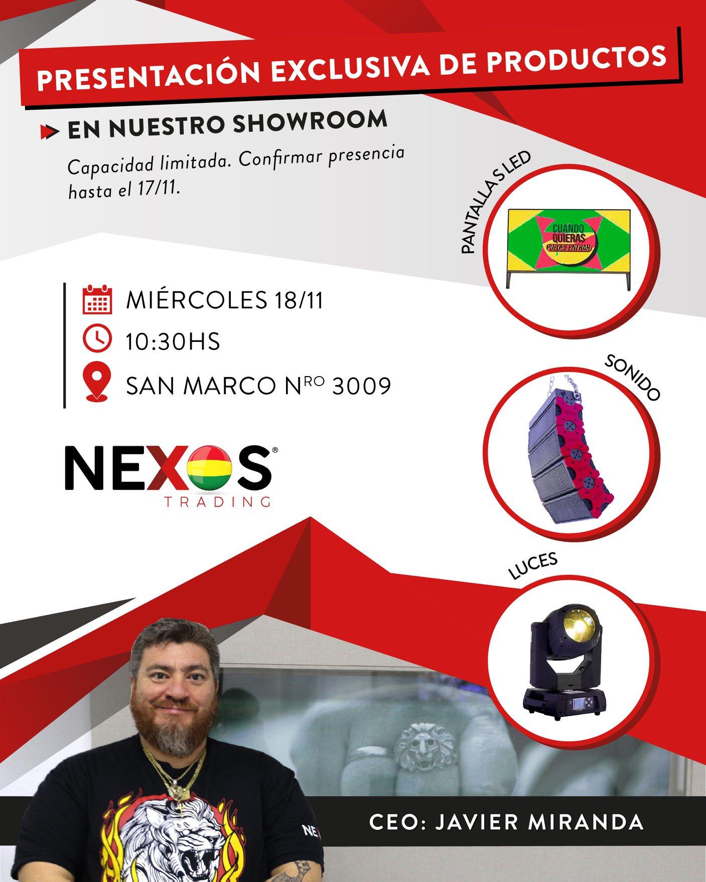 Presentación exclusiva de productos.