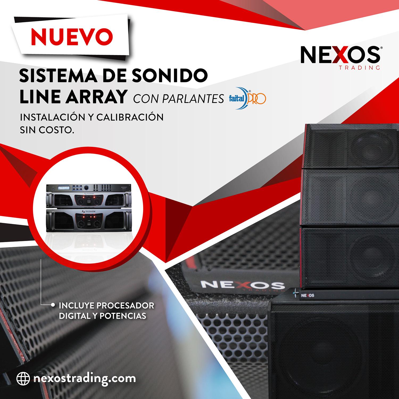 Llegaron los nuevos equipos de Sonido a Nexos Argentina. Increíble oportunidad.